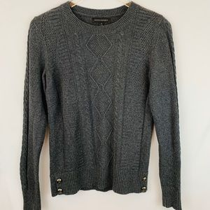 Banana Republic Gray Cable Knit Sweater